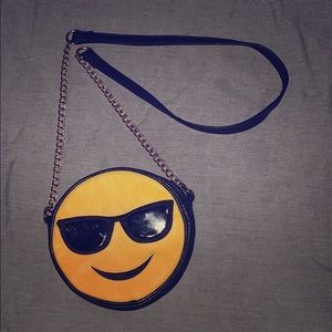 😎 Cool Emoji Chain and Leather Crossbody Bag